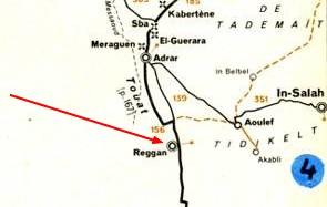 Carte Algerie Reggane.Transaharien